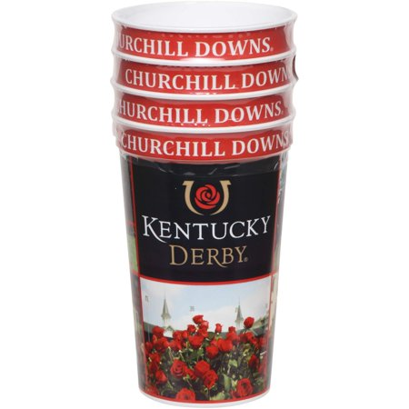 Kentucky Derby 22oz. Icon Plastic Souvenir Cups 4-Pack - No Size