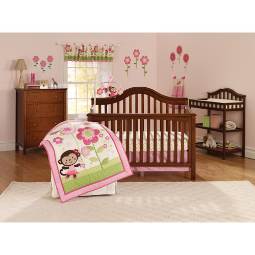 Child of Mine Ballerina Garden 3pc Crib Bedding Set