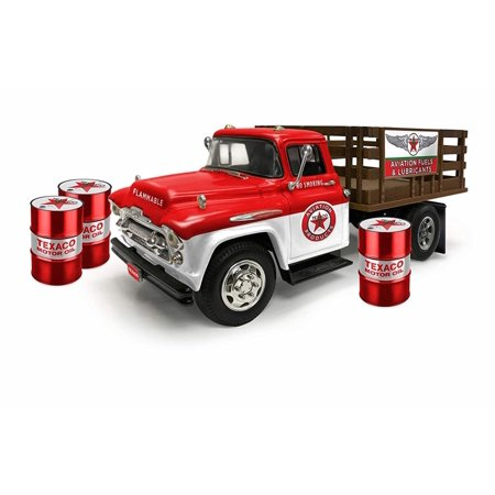 1957 Chevy Stake Bed Truck, Texaco Oil - Auto World CP7505 - 1/25 Scale Diecast Model Toy Car