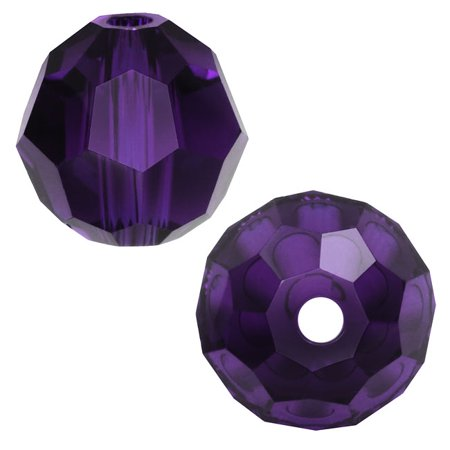 Swarovski Crystal, #5000 Round Beads 8mm, 8 Pieces, Purple Velvet