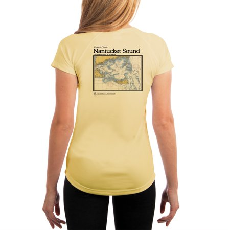 8acb71a433 Altered Latitudes - Nantucket Sound Chart Women's UPF 50+ UV/Sun Protection  Short Sleeve T-Shirt - Walmart.com