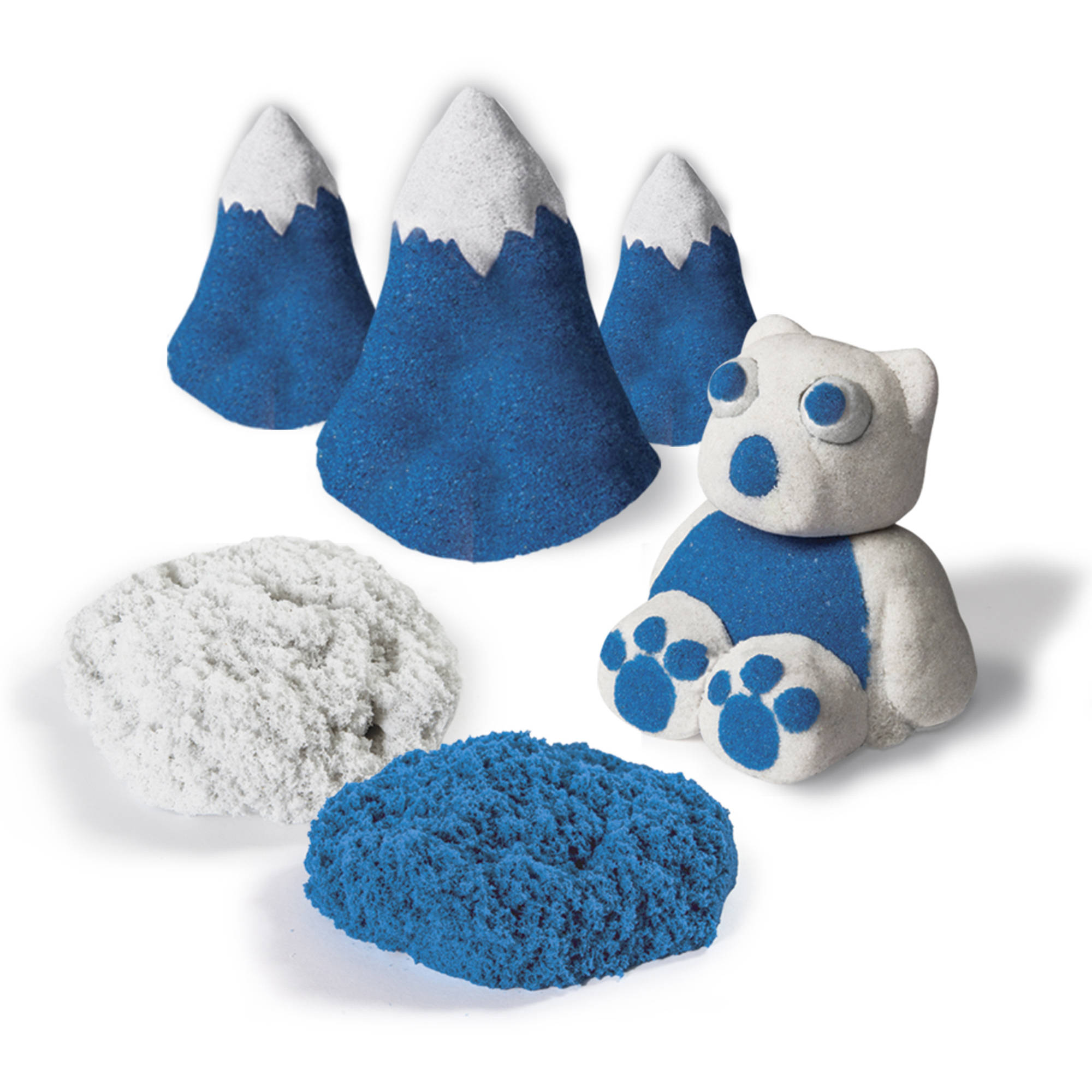 The One and Only Kinetic Sand Build, 1lb Color Pack, Blue and Shimmering White
