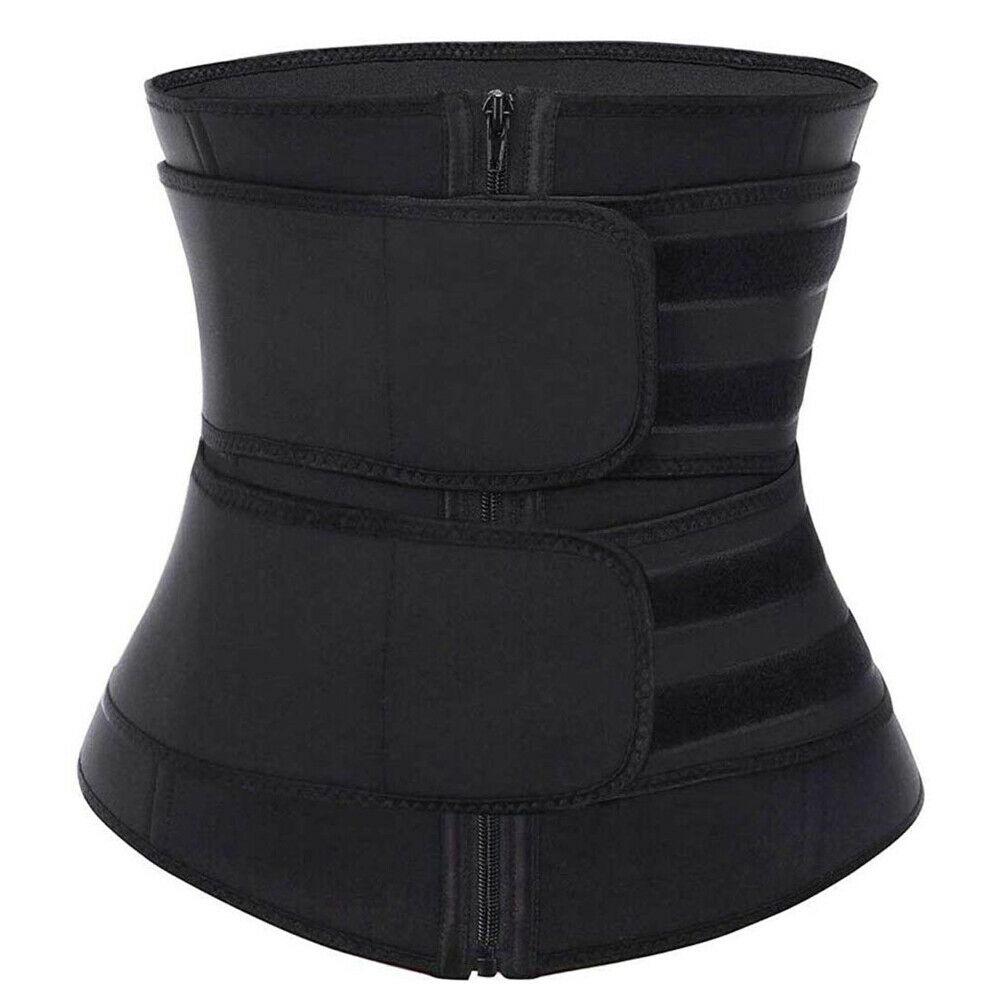 Details about  /Women Waist Trainer Cincher Corset Body Shaper Tummy Girdle Sweating Belt S-3XL