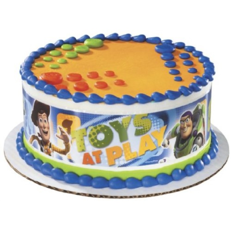 Fantastic Toy Story 3 Wrap Around Edible Image Cake Topper Walmart Com Personalised Birthday Cards Rectzonderlifede