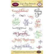 """JustRite Papercraft Clear Stamps 4""""X6"""" Large Fancy Sentiments"""