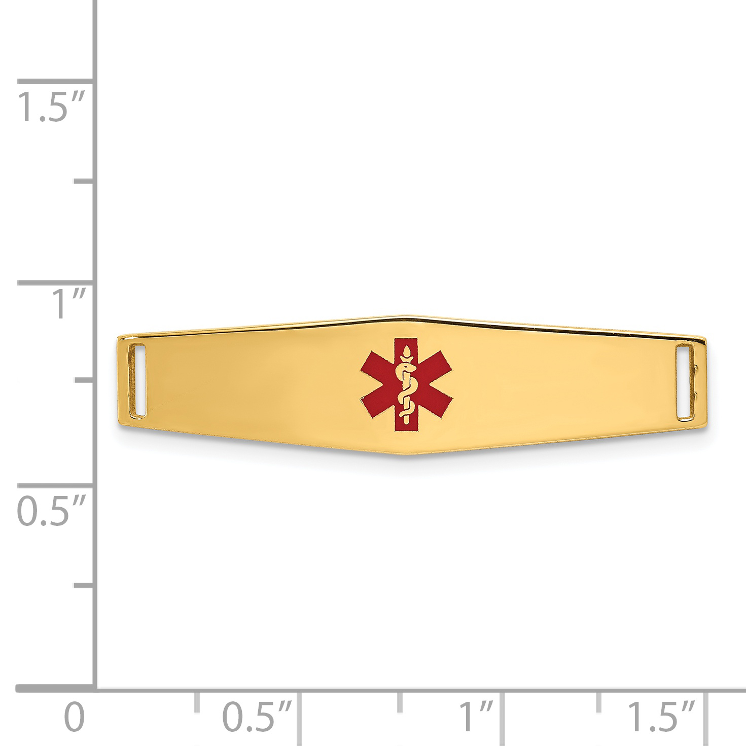 14k Yellow Gold Epoxy Enameled Medical Id Ctr Soft Plate # 817 Bracelet Fine Jewelry Gifts For Women For Her - image 1 of 2