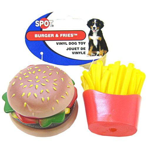 Spot Burger & Fries Vinyl Toy for Dogs Vinyl Burger & Fries Toy