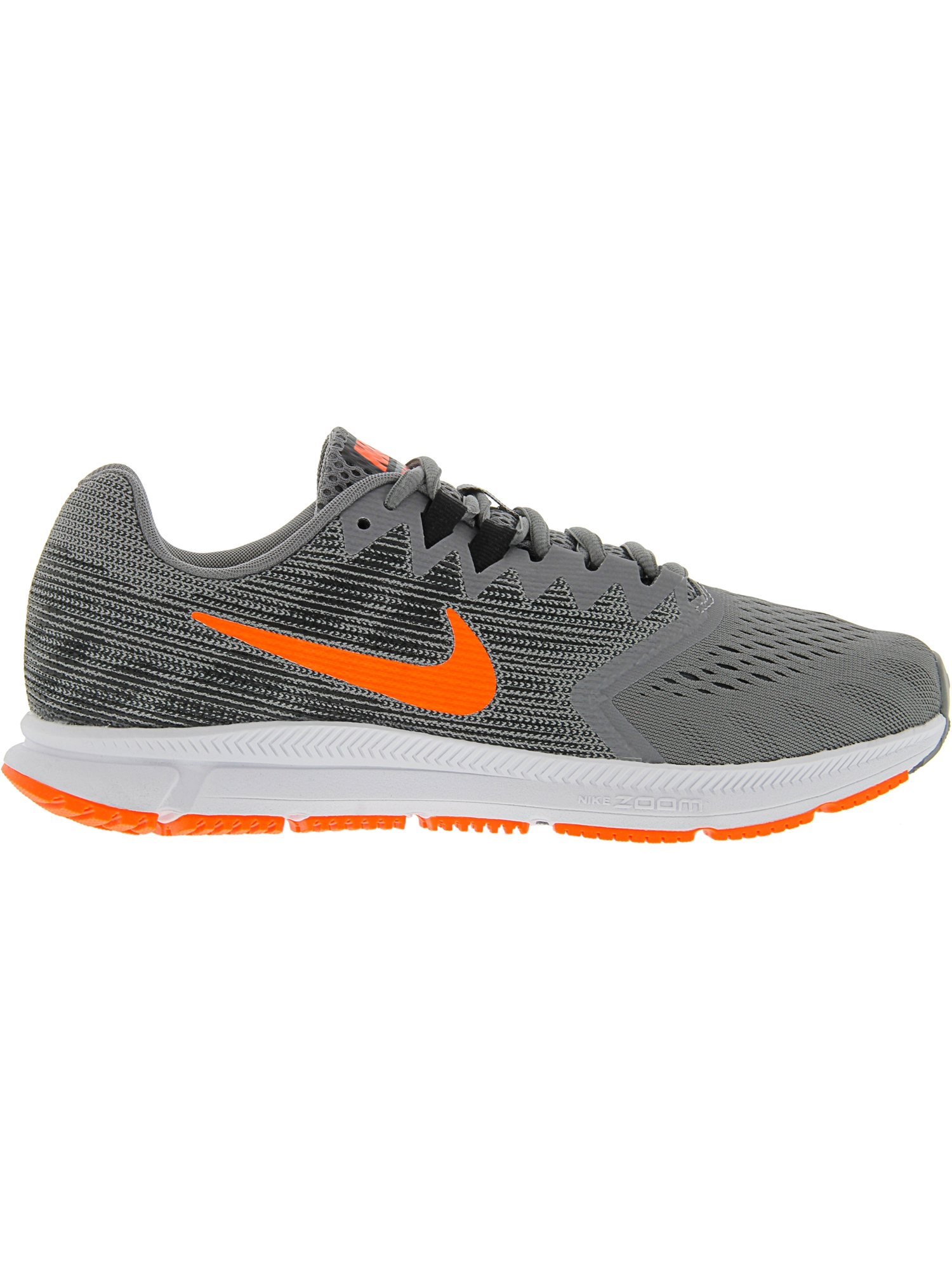 8ecf330d956f Nike - Nike Men s Zoom Span 2 Gunsmoke   Total Crimson - Black Ankle-High  Running Shoe 8M - Walmart.com