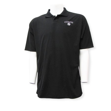 Soccer Coach Men's Embroidered Polo Shirt from Code Four - Embroidered Soccer Suit