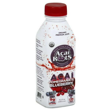 (Price/CASE)Acai Roots ARPM15 Acai Pomegranate Blueberry Juice Organic Premium 12-15.2 Fluid