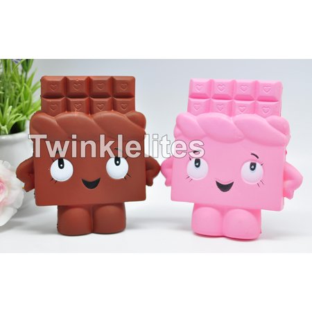 Squishy Slow Rising Squeeze CHOCOLATE BAR Fun Stress Anxiety Reliever Food Squishies Jumbo Soft 1pc