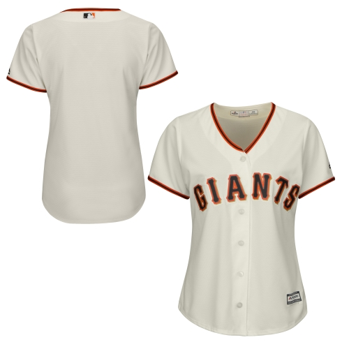 San Francisco Giants Majestic Women's Cool Base Jersey Cream by MAJESTIC LSG