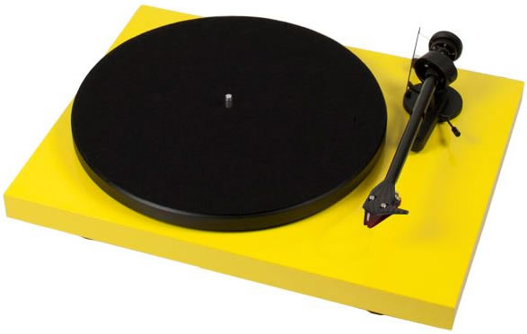 Debut Carbon DC Turntable with Ortofon 2MR Cartridge (Green) by Pro-Ject