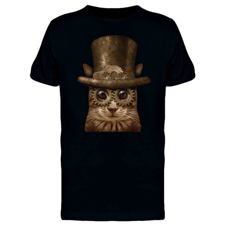 Steampunk Cat Tee Men's -Image by - Steampunk Clothes Male