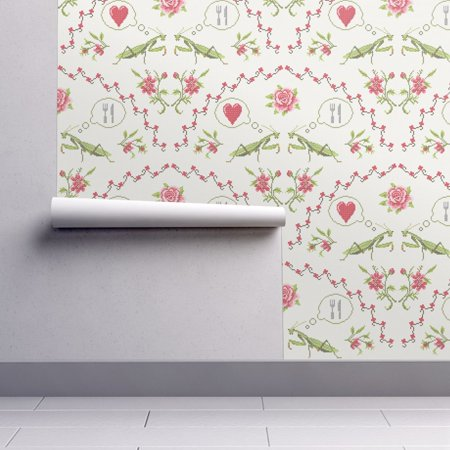 Wallpaper Roll or Sample: Valentines Day Anti Valentines Day Cross Stitch