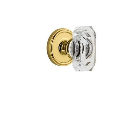 Grandeur Baguette Single Dummy Door Knob with Georgetown Rosette