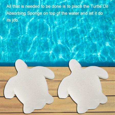 MoKo Oil Absorbing Sponge 4 Pack Oil Absorbing Sponge for Hot Tub Cute Seahorse Shape Oil Absorbing Scum Sponge Crime Clean Oil Absorber for Swimming Pool Hot Tub and Spa