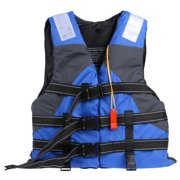 Polyester Adult Life Jacket Swimming Boating Ski Vest with Whistle