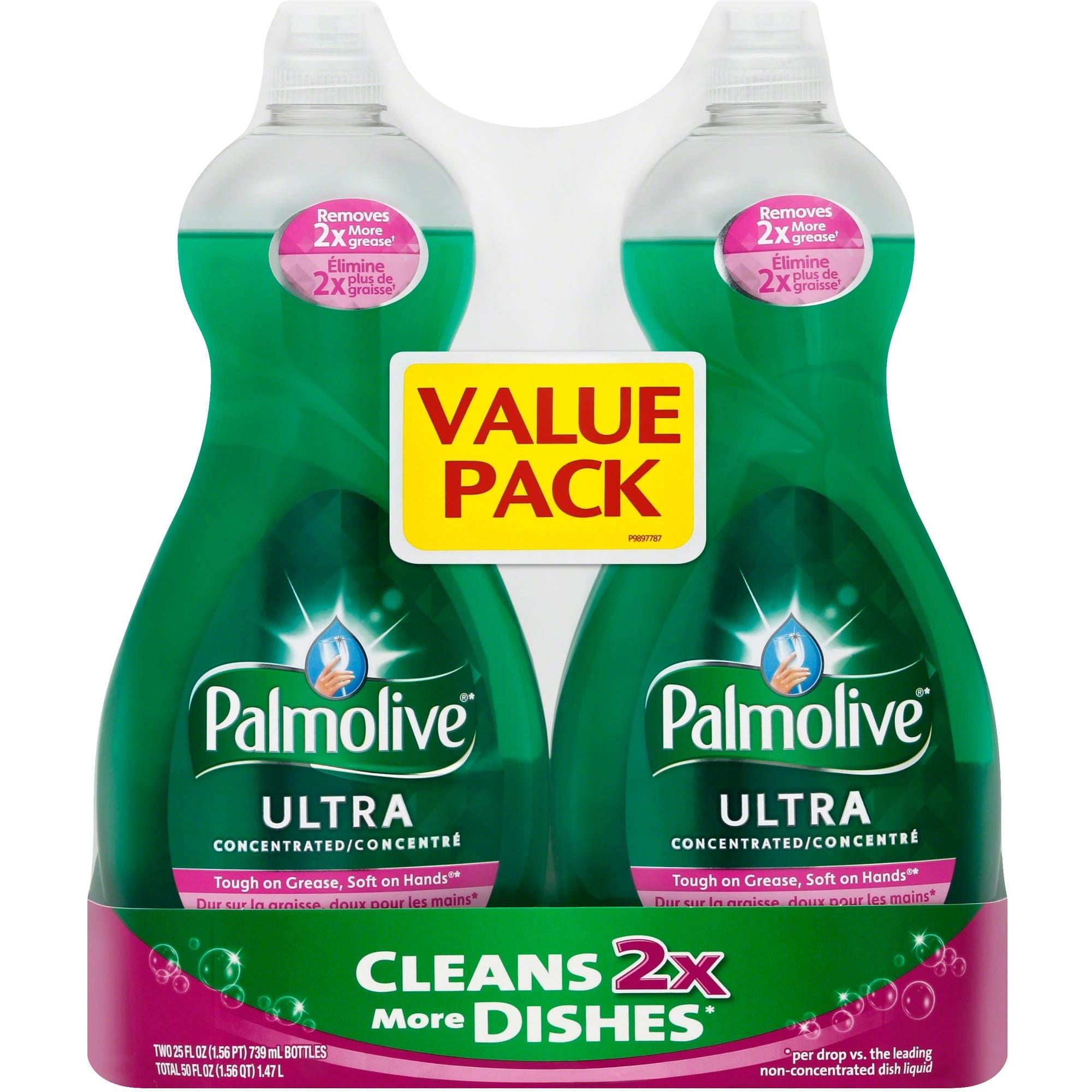 Palmolive Original Concentrated Dish Liquid, 25 oz, 2ct