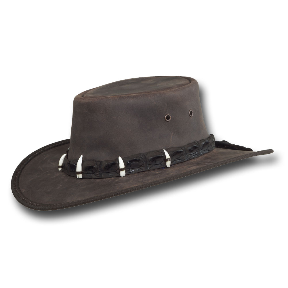 BARMAH Outback Crocodile Leather Hat Item #1033