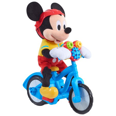 Mickey Mouse Clubhouse Boppin' Bikin' Mickey Mouse Plush ()