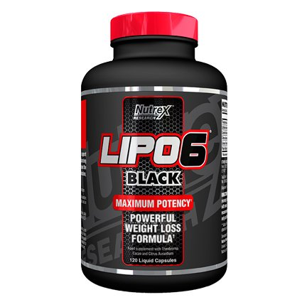 Balanced Lipo Packs - Nutrex Lipo 6 Black Weight Loss  Support Supplement 120 Capsules