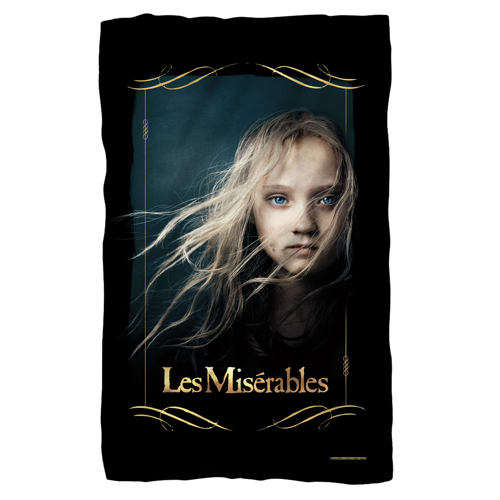 Les Miserables Girl Fleece Blanket White One Size