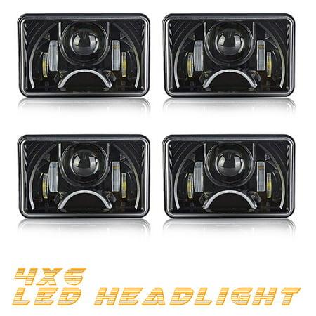 QUAKEWORLD DOT Approved Rectangular 4X6 LED Headlight Projector W/ on