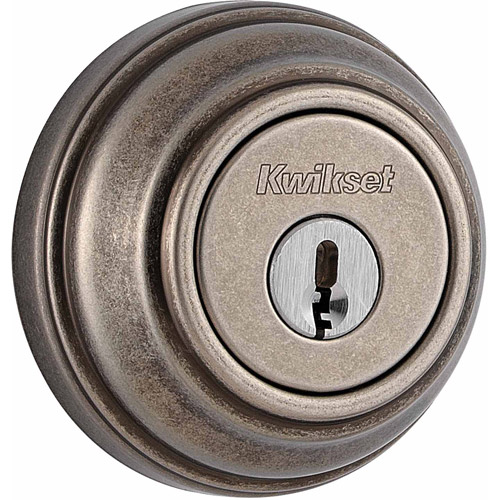 Kwikset Rustic Pewter SmartKey Single Cylinder Deadbolt