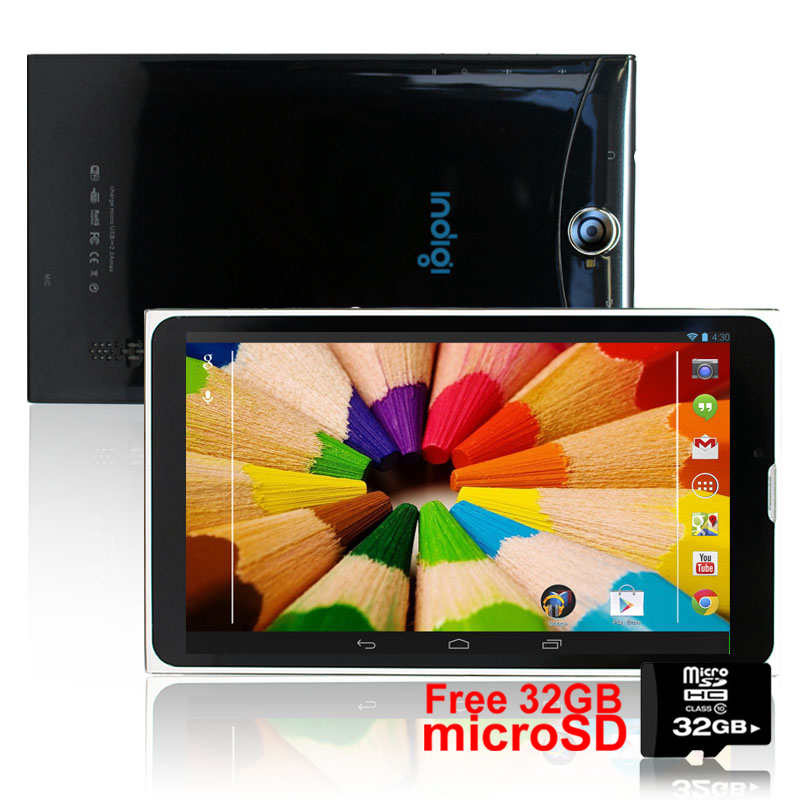 Indigi® 7.0inch Android 4.4 KitKat 3G Factory Unlocked 2-in-1 DualSIM SmartPhone + TabletPC w/ 32gb microSD Included