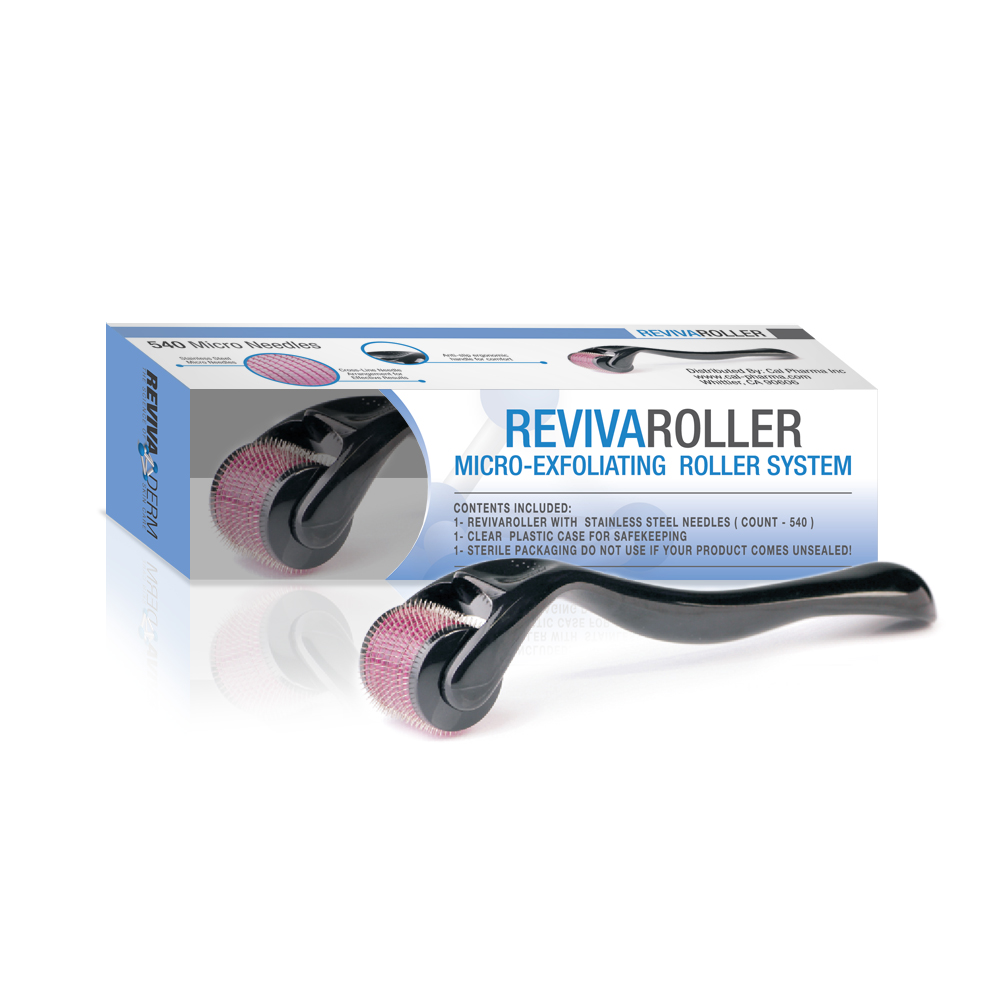 RevivaRoller Micro-Exfoliating Roller System - 540 0.25mm Stainless Steel needles in Sterile Packaging