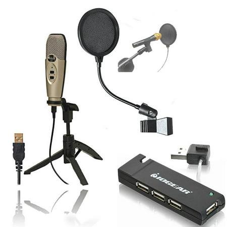 cad u37 usb studio condenser recording microphone with pop filter 4 port usb 2 0 hub. Black Bedroom Furniture Sets. Home Design Ideas