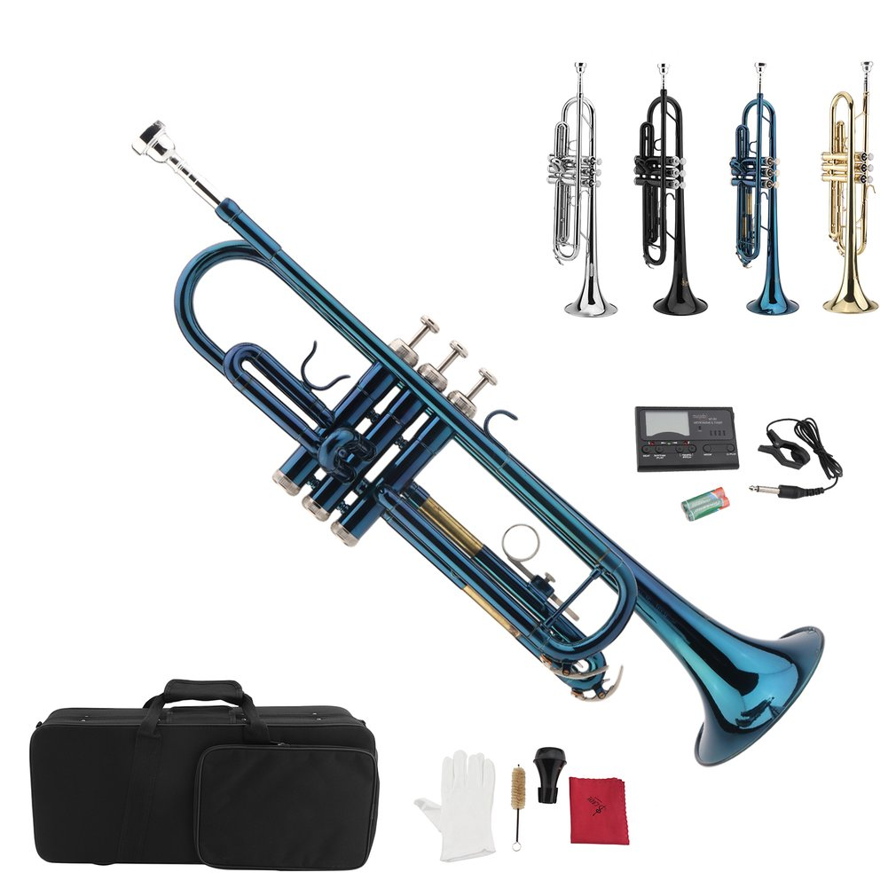LADE Exquisite Bb Trumpet With High Performance Tuner Durable Brass Trumpet