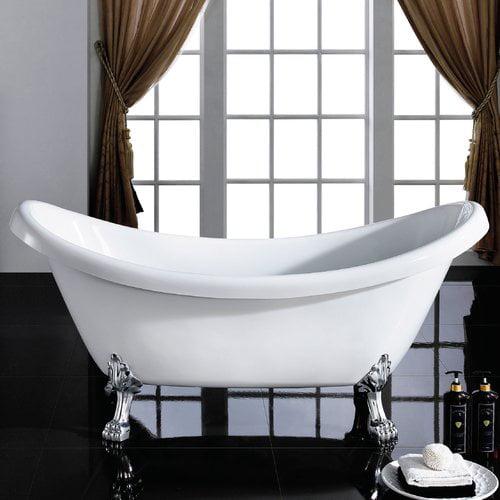 Maykke Mona 71'' x 31'' Freestanding Soaking Bathtub
