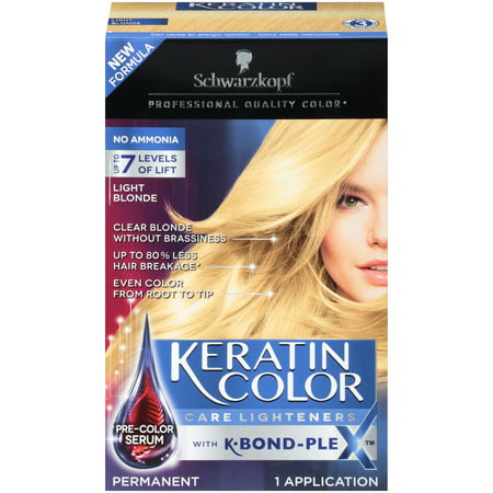 Schwarzkopf Keratin Color Care Lighteners Permanent Hair Color Cream, Light
