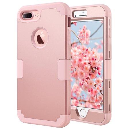 ulak iphone 7 plus case with shock absorption hybrid tpu bumper hard pc anti. Black Bedroom Furniture Sets. Home Design Ideas