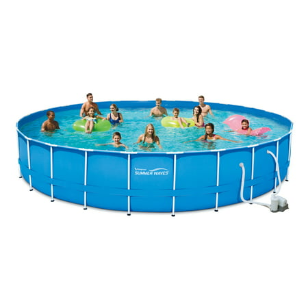 Summer Waves 24 39 X 52 Metal Frame Above Ground Swimming Pool With Filter Pump System And Deluxe