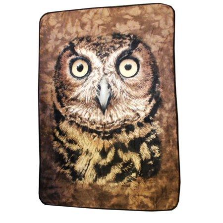 Owl Face 45x 60 Fleece Throw Blanket
