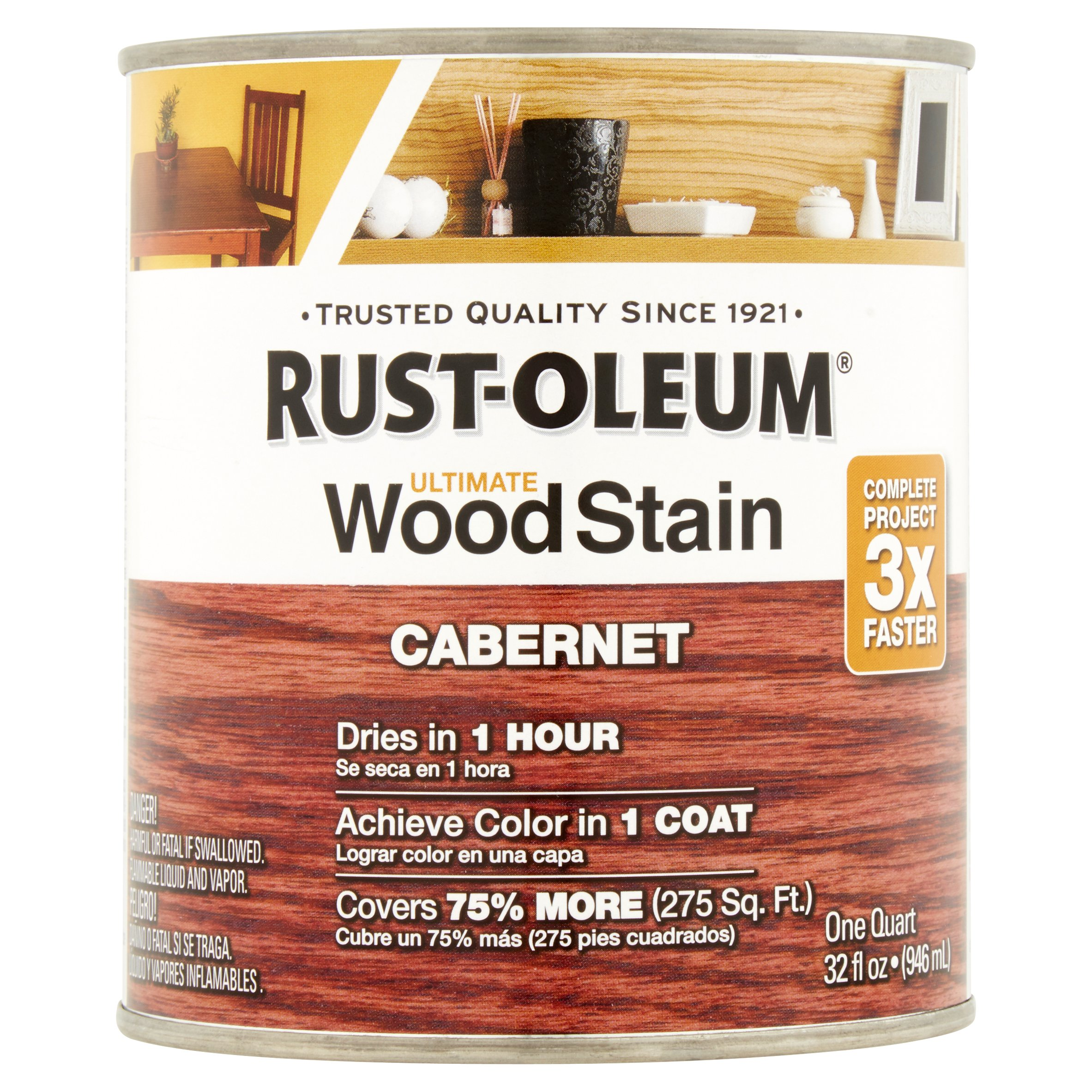 Rust-Oleum Cabernet Ultimate Wood Stain, 32 fl oz