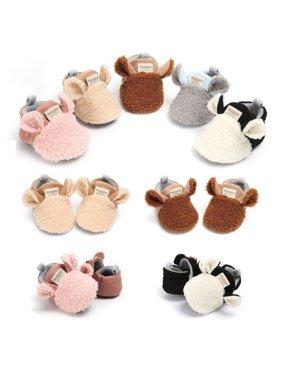 Baby Shoes Cute Crib Shoes Newborn Girl´s Soft Warm Shoe 0-18 Months