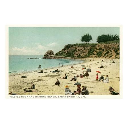 Beach Scene, Santa Barbara, California Print Wall Art