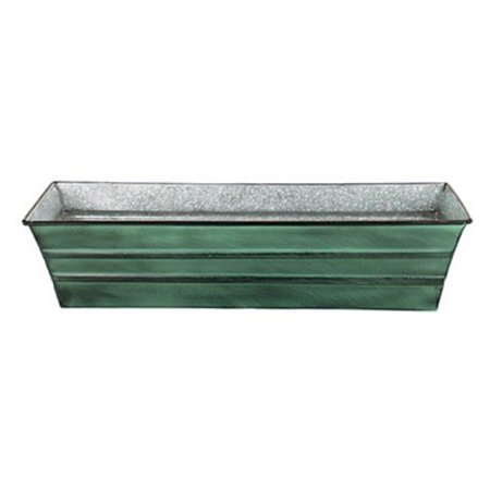 Galvanized Tin Window Box (Achla Designs Galvanized Tin Window Flower)