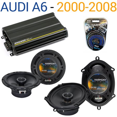Audi A6 2000-2008 Factory Speaker Replacement Harmony R5 R65 & CX300.4 Amp - Factory Certified
