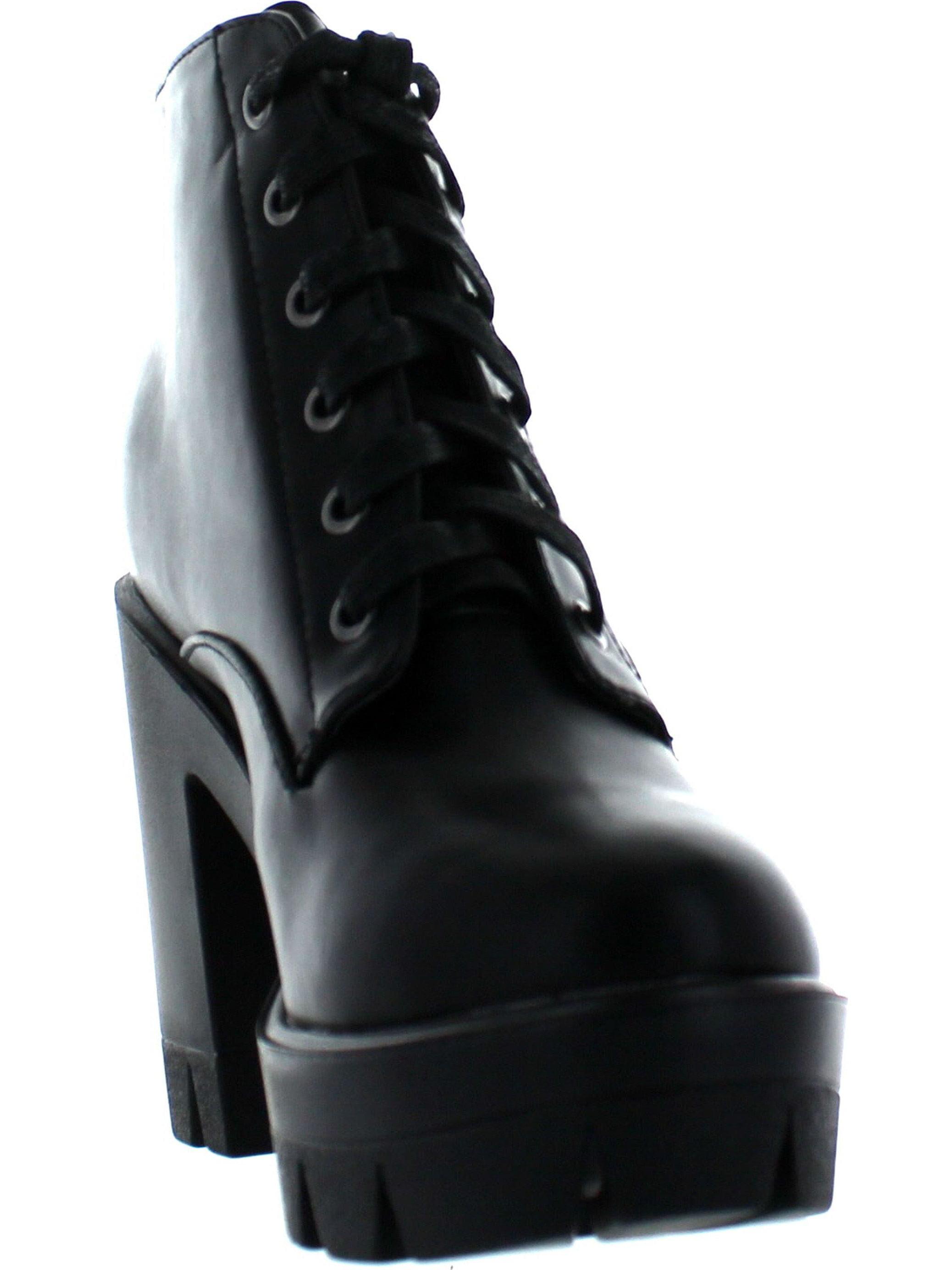 b089999593f3 Bamboo - BAMBOO JONAS-02 Women Lace Up Chunky Heel Lug Sole Platform Combat  Ankle Bootie - Walmart.com