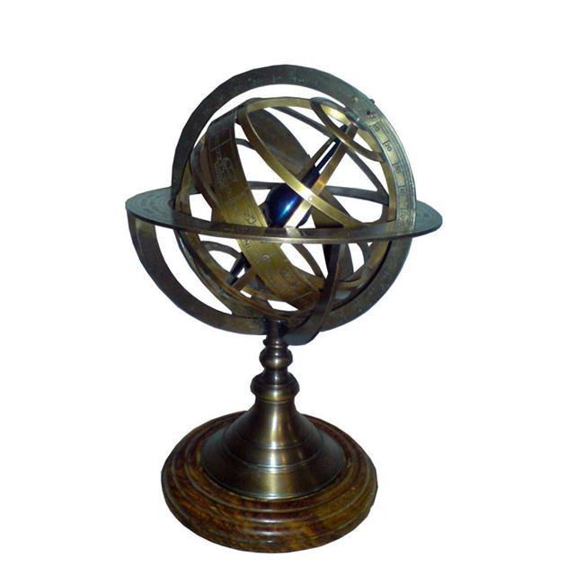 Old Modern Handicrafts ND042 Armillary Sphere on wood base
