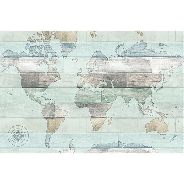 WallPops Timber World Map Decal