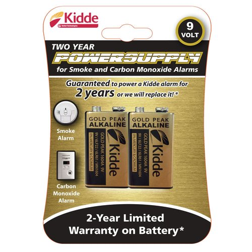 Kidde 9V Batteries, 2 Count