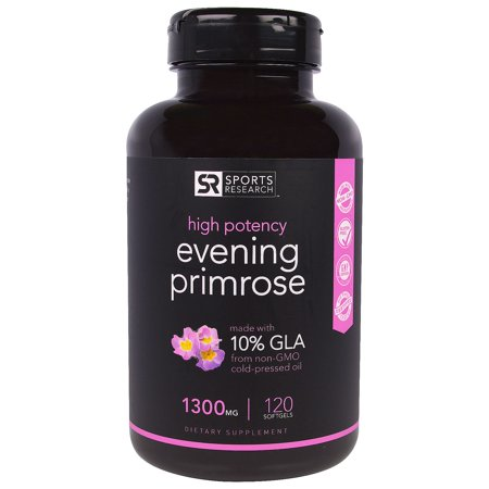 Sports Research  Evening Primrose Oil  1300 mg  120