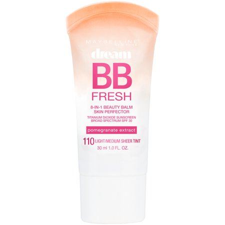 Maybelline Dream Fresh BB Cream Sheer Tint 8-In-1 Skin Perfector, (Best Cc Cream For Redness)