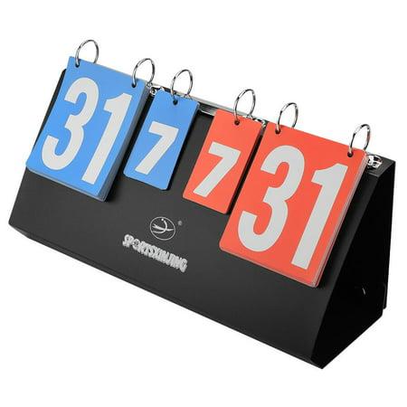 Yosoo 4-Digit Sports Competition Score Board Scoreboard for Table Tennis Basketball Badminton, Basketball Scoreboard,4 Digit Scoreboard (Scoring Boards)